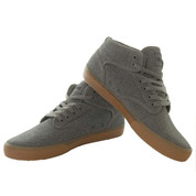 Globe Motley Mid Skate Shoe Trainers Grey Tweed Gum Textile