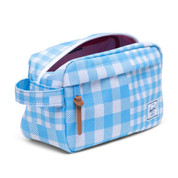 Herschel Chapter 5 Litre Travel Wash Bag Gingham Alaskan Blue
