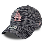 New Era MLB Womens Engineered Fit 9Forty LA Dodger Navy White Pink Lemonade OSFA
