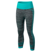 Hyped Sports Womens Active Sport Capris 3/4 Leggings Pants Teal Grey Marl UK 6