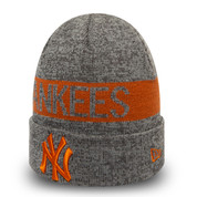 New Era MLB New York Yankees Marl Cuff Knit Rust Graphite Beanie OSFA
