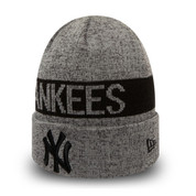 New Era MLB New York Yankees Marl Cuff Knit Black Graphite Beanie OSFA
