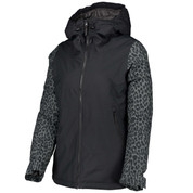 Wear Colour Womens Cake Ski Snow Jacket Black Leopard