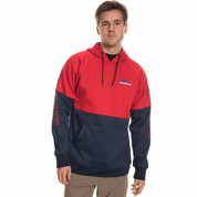 686 Link Bonded Fleece Pullover Hoody Red Colorblock