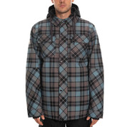 686 Woodland Insulated Ski Snowboard Jacket Goblin Blue Plaid