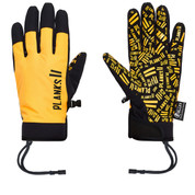 Planks High Times Pipe Ski Snow Glove Sunset Yellow