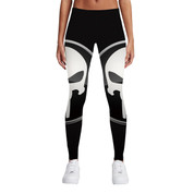 Hyped Sports Womens Casual Sport Leggings Pants Spandex Punisher