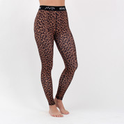 Eivy Womens Ski Snow Icecold Thermal Base Layer Tights Leopard