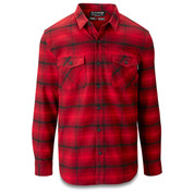Dakine Mens Underwood Flannel Long Sleeve Shirt Crimson Red