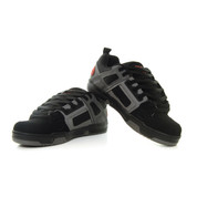 DVS Comanche Trainers Shoes Black Charcoal Red Nubuck