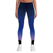 Hyped Sports Womens Casual Sport Leggings Pants Spandex Purple Night Sky
