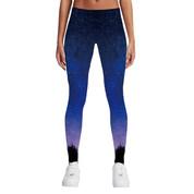 Hyped Sports Womens Casual Sport Leggings Pants Spandex Purple Night Sky