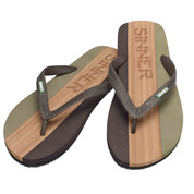 Sinner Mens Capitola Flip Flop Dark Green