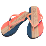 Sinner Womens Capitola Flip Flops Coral