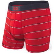 SAXX Vibe Everyday Boxer Brief Red Shallow Stripe