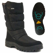 Mammal Mens Winter OC Ice Grip Mid Calf Boots Fango 2 Black