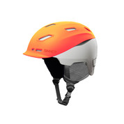 Sinner Moonstone Ski Snowboard Helmet Neon Orange Grey