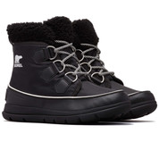 Sorel Womens Explorer Carnival Boot Black Sea Salt