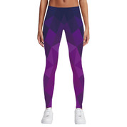 Hyped Sports Womens Casual Sport Leggings Pants Spandex Geometric Purple