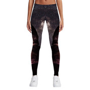 Hyped Sports Womens Casual Sport Leggings Pants Mountain Night Sky