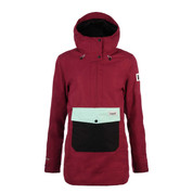 Planks Overstoke Womens Ski Snow Insulated Anorak Plum