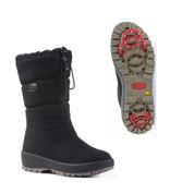 Olang Womens Winter OC Ice Grip 2x Zips Mid Calf Snow Boots Ziller Black
