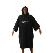 Hyped Sports Adult Mens Womens Towelling Changing Robe Beach Swim Poncho Black