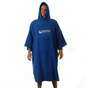 Hyped Sports Adult Mens Womens Towelling Changing Robe Beach Poncho Royal Blue