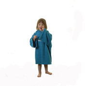 Hyped Sports Kids Hooded Towelling Changing Change Robe Beach Swim Poncho Blue