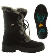 Mammal Womens Winter Ice Grip Mid Calf Boots Oribi OC Black