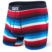 SAXX Ultra Boxer Everyday Brief Fly SXBB30F Navy Red Cabana Stripe