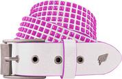 Lowlife Devoid White Neon Pink Studs Studded Belt LL509