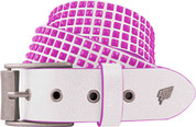 Lowlife Devoid White Neon Pink Studs Studded Belt LL509