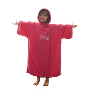 Tiki Kids Junior Hooded Towelling Changing Change Robe Beach Swim Poncho Pink