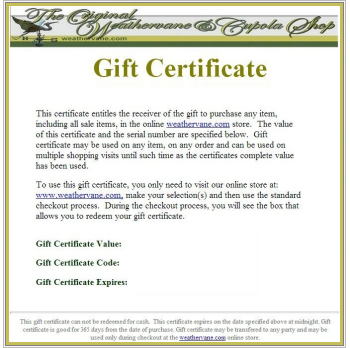 gift voucher and certificate samples