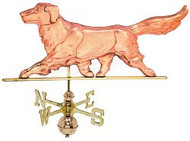 Weathervane - Polished - Golden Retriever Dog