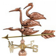Weathervane - Polished - Three Herons
