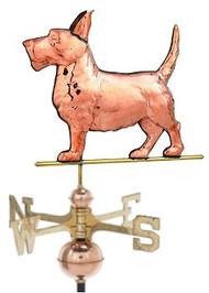 Weathervane - Polished - Scottish Terrier Dog