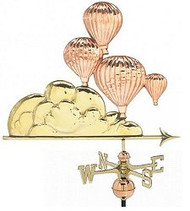Weathervane - Polished - Balloonists in Flight