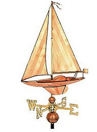 Weathervane - Small Polished Sailboat
