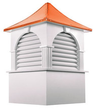 Good Directions Vinyl Farmington Cupola - 84in. square x 131in. high