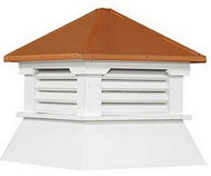 Cupola - Classic Shed: Azek - Copper Top - 16Lx16Wx18H