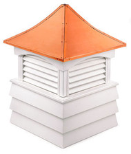 Good Directions Vinyl Sherwood Shiplap Base Cupola - 60in. square x 92in. high