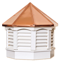 Gazebo cupola - VINYL - copper top 18in. x 18in. x  20in. H