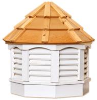 Gazebo cupola - VINYL - cedar top 21in.