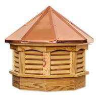 Gazebo cupola - Treated pine - copper top 18in.