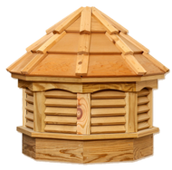 Gazebo cupola - Treated pine - cedar top 21in. x 21in. x 25in. H