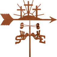 Crosses of Faith Weathervane With Mount