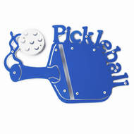 Pickleball Plaque (3D Style) Blue/White