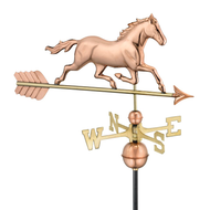 Trotting Horse Weathervane - Polished Copper
